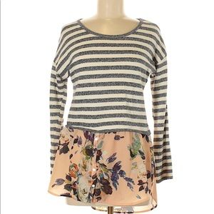 Like New Anthropologie Striped floral shirt!